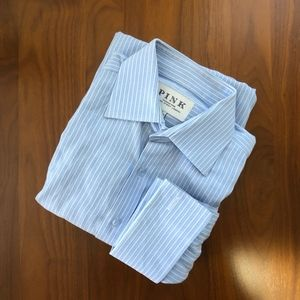 Pink Thomas Pink Mens Striped French Cuff Shirt